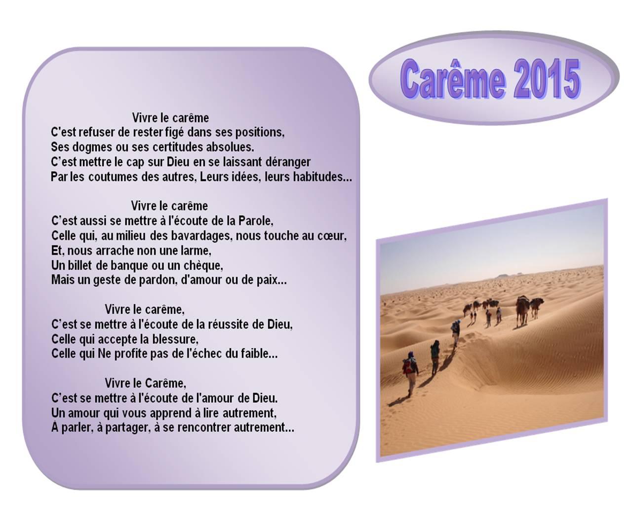 Carême 2015 à Saint-Nicolas