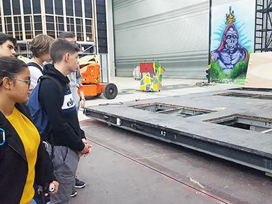 L'opéra Bastille se livre aux élèves de Menuiserie
