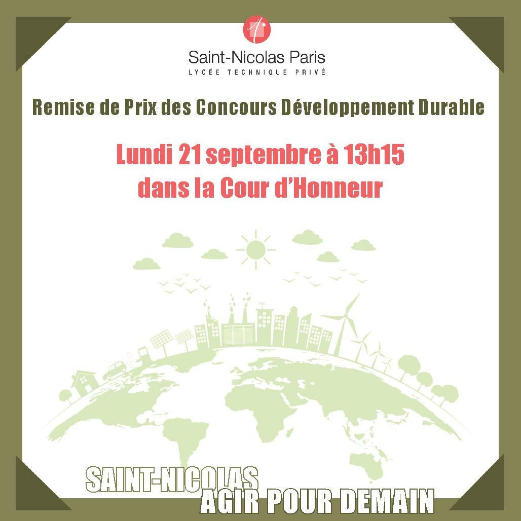 Remise de prix concours «Développement Durable»
