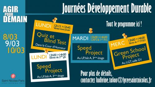 Journées Développement Durable : ouverture de la 4ème édition!