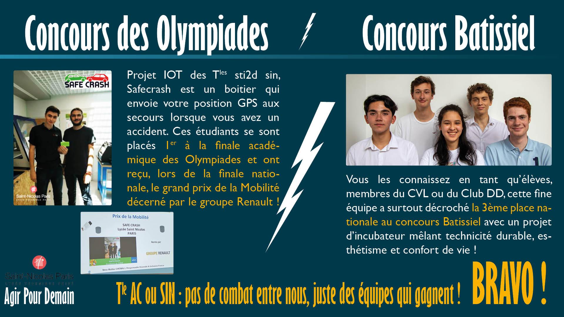 Concours des Olympiades / Concours Batissiel